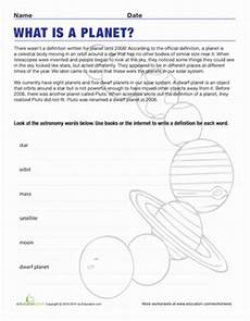 space science worksheets 13402 definition of a planet third grade science science worksheets definitions