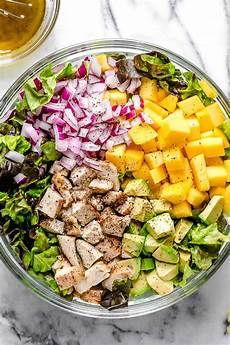 grilled chicken avocado mango salad ready in minutes