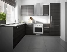 kuchenzeile l k 252 chenzeile l form grau fino schwarz 140x250cm neu
