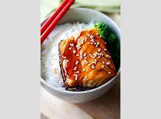 teriyaki fish and noodles_image
