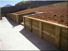 mur soutenement bois mur soutenement jardin mur de