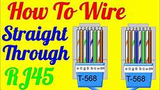 How To Make Through Cable Rj45 Cat 5 5e 6