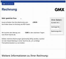 gmx e mail gmx ihre rechnung vom echt oder