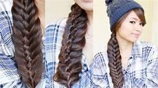 woven fishtail braid hairstyle hair tutorial youtube
