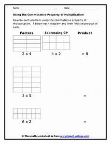 using the commutative property of multiplication
