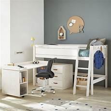 da letto con scrivania letto a soppalco con scrivania rotante e cassettiera study