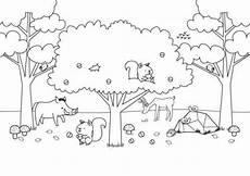Schule Und Familie Ausmalbild Herbst Kostenlose Malvorlage Herbst Waldtiere Im Herbst Ausmalen