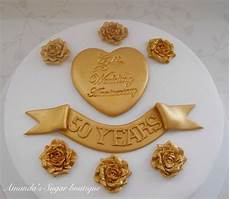 golden wedding anniversary cake decorations gold roses