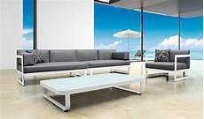 Salon De Jardin Lounge Blanc Modulable 6 Places Haut De Gamme