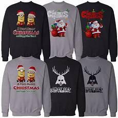 herren weihnachten sweatshirt pullover pulli minions darth