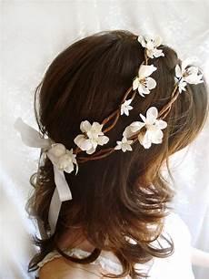 diy bridal hair wreath rustic chic wedding head wreath bo peep ivory flower hair