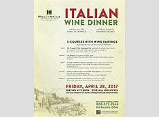 Maui Now : H?li?imaile Hosts 5 Course Italian Wine Dinner