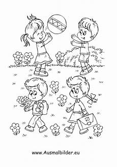 Ausmalbilder Zum Ausdrucken Garten Ausmalbild Kinder Spielen Im Garten Kostenlos Ausdrucken