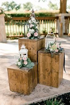 outdoor wedding ceremony modern rustic wedding decor