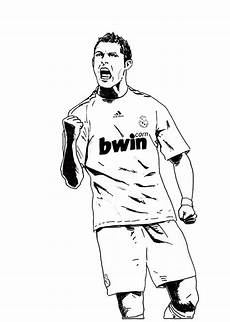Fussball Ausmalbilder Ronaldo Cristiano Ronaldo Real Madrid Coloring Soccer Player Sheet