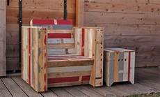 mobilier en palette de bois