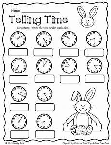 printable telling time worksheets 2nd grade 3624 easter math freebie easter themes free and student centered resources
