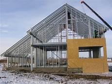 строительство с использованием металлического каркаса