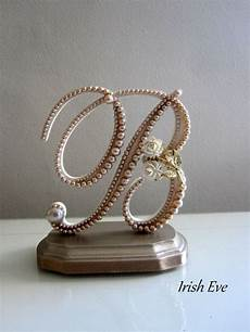 wedding cake topper display made to order monogram by