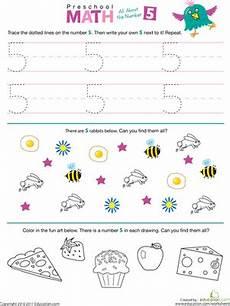 multiplication worksheets number 5 4517 preschool math all about the number 5 worksheet education