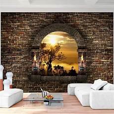 steinwand tapete wohnzimmer fototapeten fenster natur 352 x 250 cm vlies wand tapete