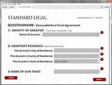gun trust legal forms software