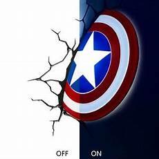 marvel avengers captain america shield deco wall led light night toy gift xmas ebay