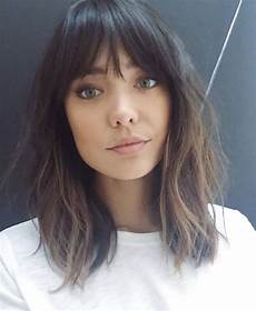 trendy bangs for medium hair 2018