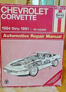 car repair manuals download 2010 chevrolet corvette on board diagnostic system haynes chevrolet corvette 1984 1991 automotive repair manual ebay