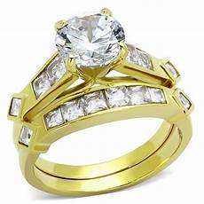 s 3 15 ct cz 14k gold plated bridal engagement wedding ring band ebay