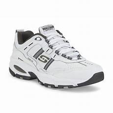 skechers s serpentine memory foam white grey athletic shoe