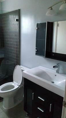 finished bathroom ideas finished bathroom gray shower tiles grayish blue paint