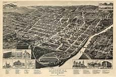 point s macon bird s eye view 1887 macon ga city map 20x30 ebay