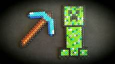 minecraft creeper diamant pickaxe perler