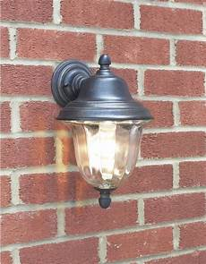aldgate 1 light black gold double insulated outdoor wall
