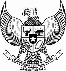 Logo Garuda Pancasila Bw Hitam Putih Background Black And