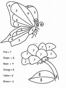 color by number worksheets butterfly 16083 butterfly color by numbers by purple hippo tpt