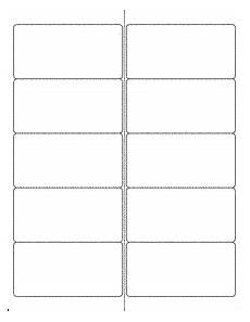 note card template 2 per page label templates ol125 4 quot x 2 quot labels
