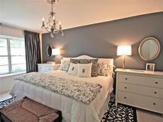 gray and white bedroom hgtv