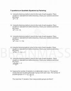 quadratic word problem worksheets 11121 solving quadratic equations worksheet all methods with answers tessshebaylo