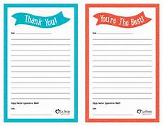 thank you card template for students from appreciation week free printable thank you