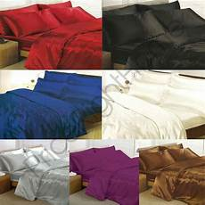 sheet covers satin bedding sets duvet cover fitted sheet pillowcases ebay