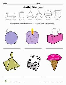 solid shapes worksheets for grade 1 1267 geometric solid shapes worksheet education