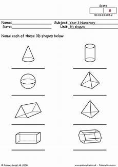 3d shapes worksheet early years 1107 this worksheet is a b w resource children name the 3d shapes 3d shapes primary leap