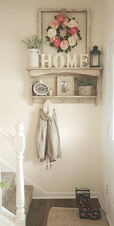 Home Entrance Wall Decor Ideas by Small Entryway Flowers Country White Farmhouse