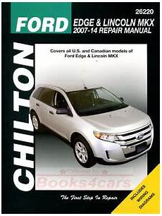how to download repair manuals 2012 lincoln mkx navigation system ford edge lincoln mkx shop manual service repair book chilton haynes 2007 2014 ebay