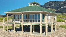beach house plans on piers clearview 1600 p house plans