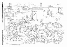 Malvorlagen Strand Bilder Meer Strand Illustrator Ausmalbilder Wimmelbild