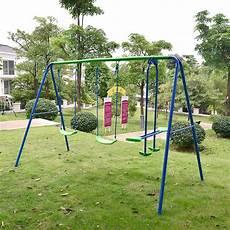 kid swing set playground metal swing set swingset play outdoor children