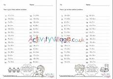 addition worksheets uk 9082 addition within 20 practice worksheets set 1